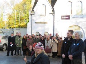 Choir outside Queenborough Station