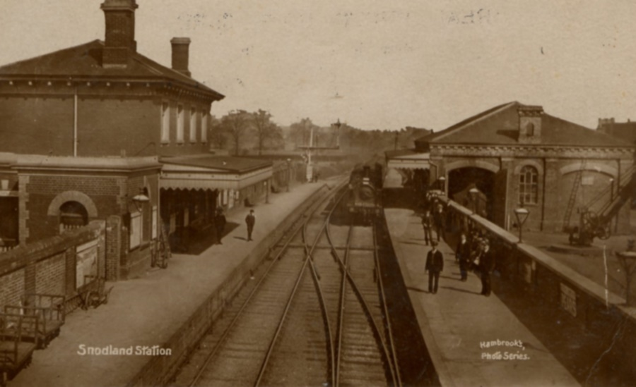 Snodland Station Old Photo Hambrooks Series