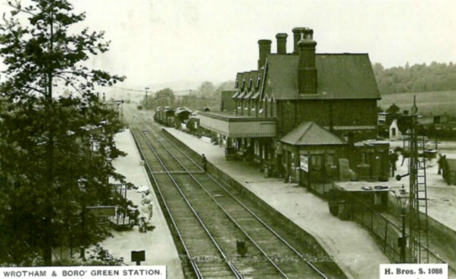Old photo of Borough Green and Wrotham