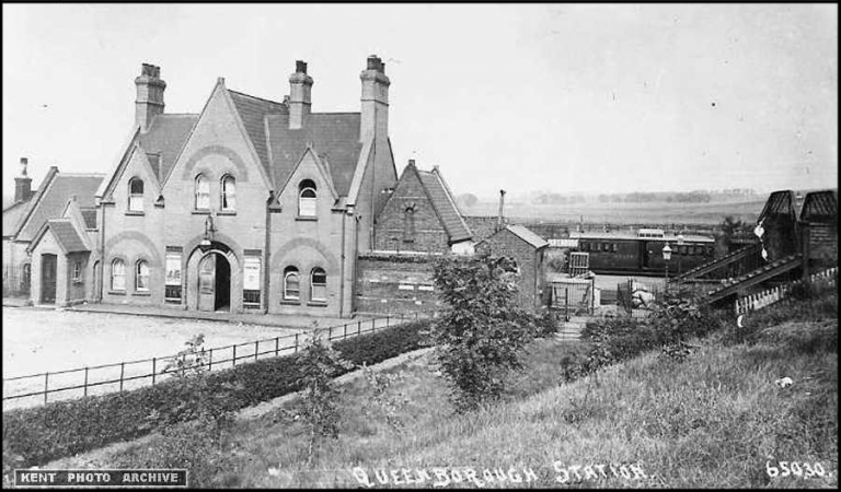 Queenborough Station Old photo