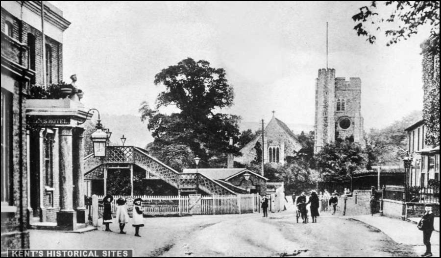 Front of Snodland Station Old Photo